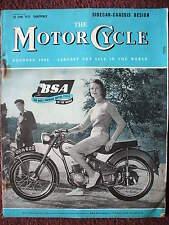 THE MOTORCYCLE 30TH JUNE 1955 ADS BSA MODELS ZUNDAPP 247CC ELASTIC THRUXTON RACE
