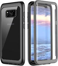 Samsung Galaxy S8 Case, Pakoyi Full Body Bumper Case Built-in Screen Protector