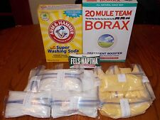 60 GALLON HOMEMADE LAUNDRY  DETERGENT  SOAP KIT ( 1 Gallon Recipe Included )
