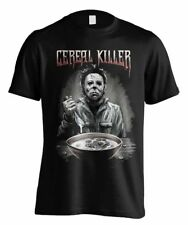 Halloween Cereal Killer T-Shirt Black T Shirts Short Sleeve top tee
