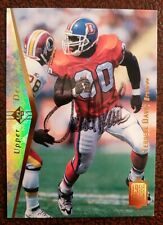 Terrell Davis Signed Autographed 1995 Upper Deck SP NFL Card Broncos RC Rookie