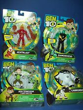 BEN 10 TEN 4' FIGURE LOT ~ DIAMONDHEAD HEATBLAST CANNONBOLT BEN grey new 2017