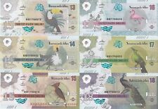 Pacific Ocean Set 6 banknotes 13-18 dollars 2016 Birds UNC Private issue