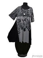 PoCo LAGENLOOK Tunika Long-Shirt Kleid 44 46 48 50 52 54 56 58 L-XL-XXL-XXXL