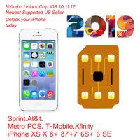 iPhone Unlock sim for iPhone XS 8 7 6 5 SE Sprint Xfinity ATT Tmobile metropcs R