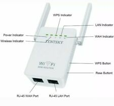 TENTSKY 2.4G Wireless WiFi AP/Repeater/Router 300Mbps