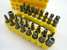 security tamper proof repair screwdriver bit set torx hex star 33 pc Tri Wing