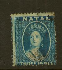 NATAL :1861 3d blue SG12 used