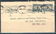 SOUTH AFRICA JOHANNESBURG 7/7/1941 COVER TO NEW YORK AS SHOWN