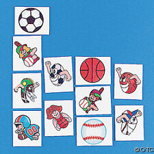 SPORTS 12 Temporary Kids Tattoos BASEBALL Football L@@K