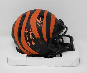 Chad Johnson Ochocinco Signed Cincinnati Bengals Eclipse Mini Helmet Insc COA 05