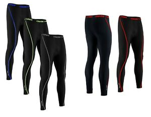 Mens Boys Thermal Compression Tights Base Layer Warm Running Gym Trouser Active