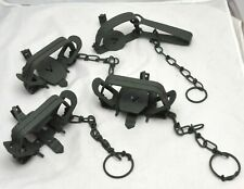 Lot of 5, Leg Hold Traps 1 Victor No. 2 & 4 Unbranded All Working Condition