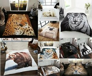 Luxury 3D Throw Animal Print Fleece Blanket/Throw Mink Fur Bed Throw Sofa Throw