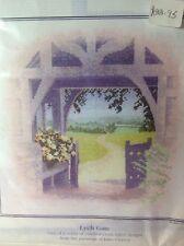"Heritage Stitchcraft Punto Croce Kit, Outlooks. 'lych CANCELLO"" * vendita *"
