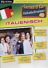 ITALIENISCH Vokabeltrainer Lernprogramm Wortschatz Rechtschreibung Aussprache