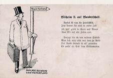 Ak, WK1, Wilhelm der II. auf Wanderschaft (K)19668