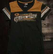 Green Bay packers small v neck top short sleeve Women's