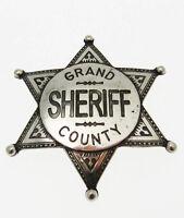 Stella Grand County Sheriff Sceriffo in metallo con incisione