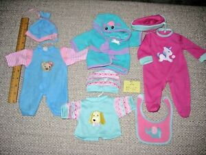 Nice Lot Of Baby Doll Clothes  size approx 11-12 inch doll size med