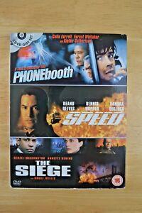 Phonebooth / Speed / The Siege - 2004 - 3 Disc DVD  Box Set - Region 2.
