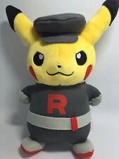 "Original Pokemon Go Pikachu With Team Rocket Suit 8"" Plush Toy Stuffed doll F&P"
