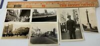 Lot of 6 Original WWII Photos Queen Mary London City Advertising US Soldiers