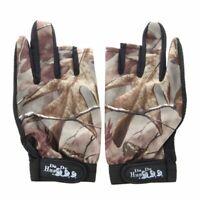3 Shorter Finger Waterproof Fishing Gloves Hunting Anti-Slip Mitts Shooting O3D5