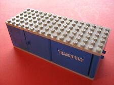 Lego Eisenbahn Aufbau Wagon Güterwagen für blaue Schienen der 70er Jahre