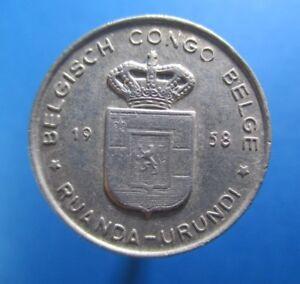 BELGIAN CONGO FRANC 1958 KM 4 #3008#