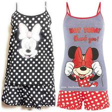 Disney Minnie Mouse Polka Dot Cami Vest and Short Pyjama Pajama Pj Set Ladies