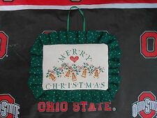"""""""Merry Christmas"""" Stencil Country Handmade Hanging Decoration Gingerbread Man"""