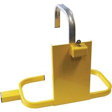 AMTECH HEAVY DUTY WHEEL CLAMP SAFETY LOCK FOR CARAVANS TRAILERS SMALL TRUCKS