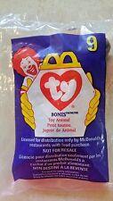 McDonalds ~ 1993 Teenie Beanie Babies #9 ~ BONES~ Factory Sealed Bag ~FREE SHIP!