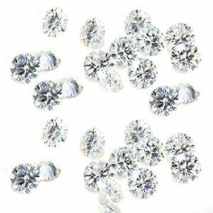 White Diamond Round Cut GH Color VS Clarity - 1.5 mm to 3 mm HPHT Diamonds Lot