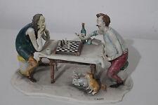 "Lo Scricciolo Keramikfigur """" Schachspieler"""" von Toni Moretto Sammler !!!Unikat"