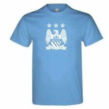 Manchester City Retro Sky Blue Cotton T-Shirt Adult (XL) Officially Licensed