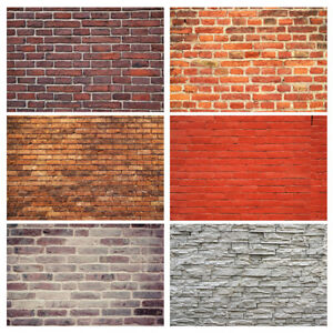 Brick Wall Vinyl Photography Backdrop Background Photo Studio Props Art Cloth