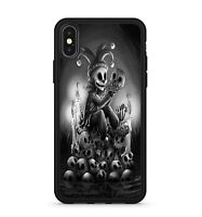 Happy Jester Clown Sitting On Spooky Skulls Candle Light Phone Case Cover