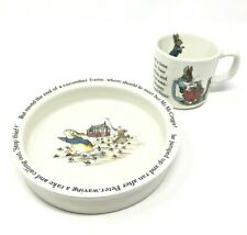 Authentic WEDGWOOD Peter Rabbit Plate & Cup Beatrix Potter Made in England