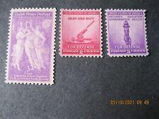 Us Set of 3 - Scott #895, #900 and #901 (Mhog) -1940 Commemoratives - F/Vf