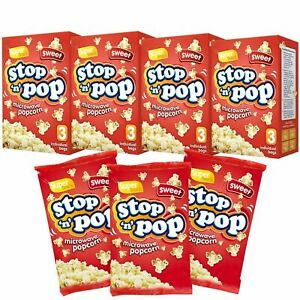 12pk x 85g Microwave Popcorn   Sweet & Butter Flavour Movie Cinema Theatre Party