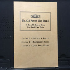 Original Operator's Maintenace Parts Manual for Oster 422 Power Vise Stand