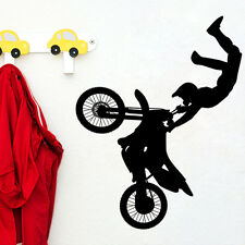 Amazing Dirt Bike Motorcycle Wall Art PVC Sticker Mural Decal Boys Room Decor