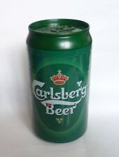 "Malaysia CARLSBERG BEER Plastic ASHTRAY SET 6 piece set Can 6.5"" Design 2006"