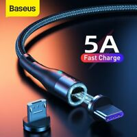 Baseus Magnetic 5A USB for Lighting Type-C Micro Charger Cable Data Cord Lead