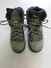 Garmont green nubuck leather hiking boots Women's 9 (eur 41.5)