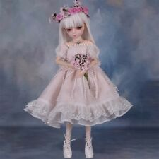 1/4 BJD Doll 45cm Girl Doll Free Face Make up Clothes Eyes Ball Jointed Dolls