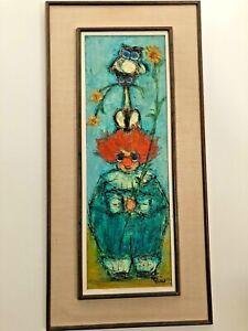 Kay Blaco MID CENTURY Oil on Board Painting Impressionist