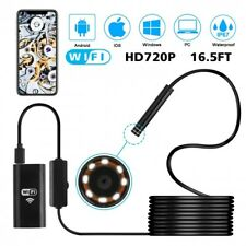 Pipe Inspection Camera HD USB Endoscope Video Sewer Drain 5M WIFI IPhone Android